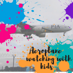 aeroplane watching with kids at Manchester Airport the airport pub and grill