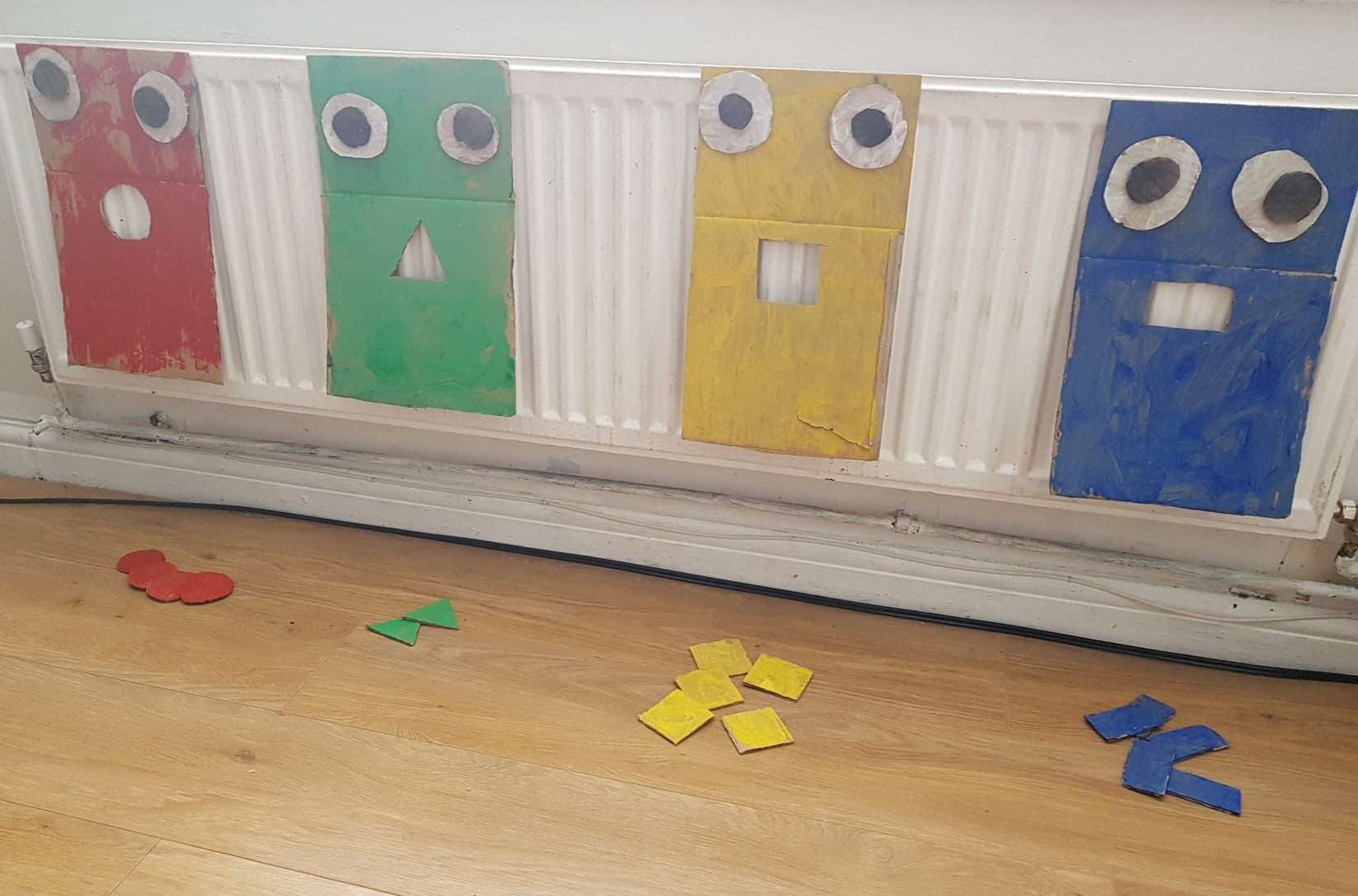 early years ideas maths monsters activity