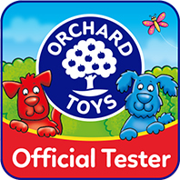orchard toys official tester badge raw childhood