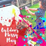 Outdoor messy play with Early Years Resources