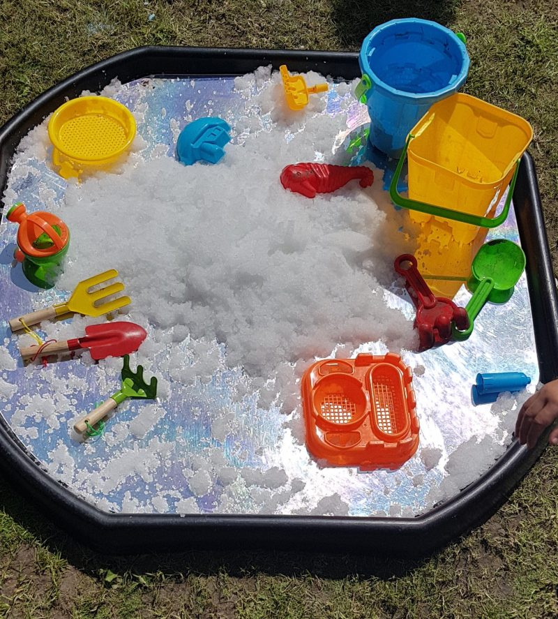 Mirrored tuff spot tray mat ideas for early years raw childhood EYR