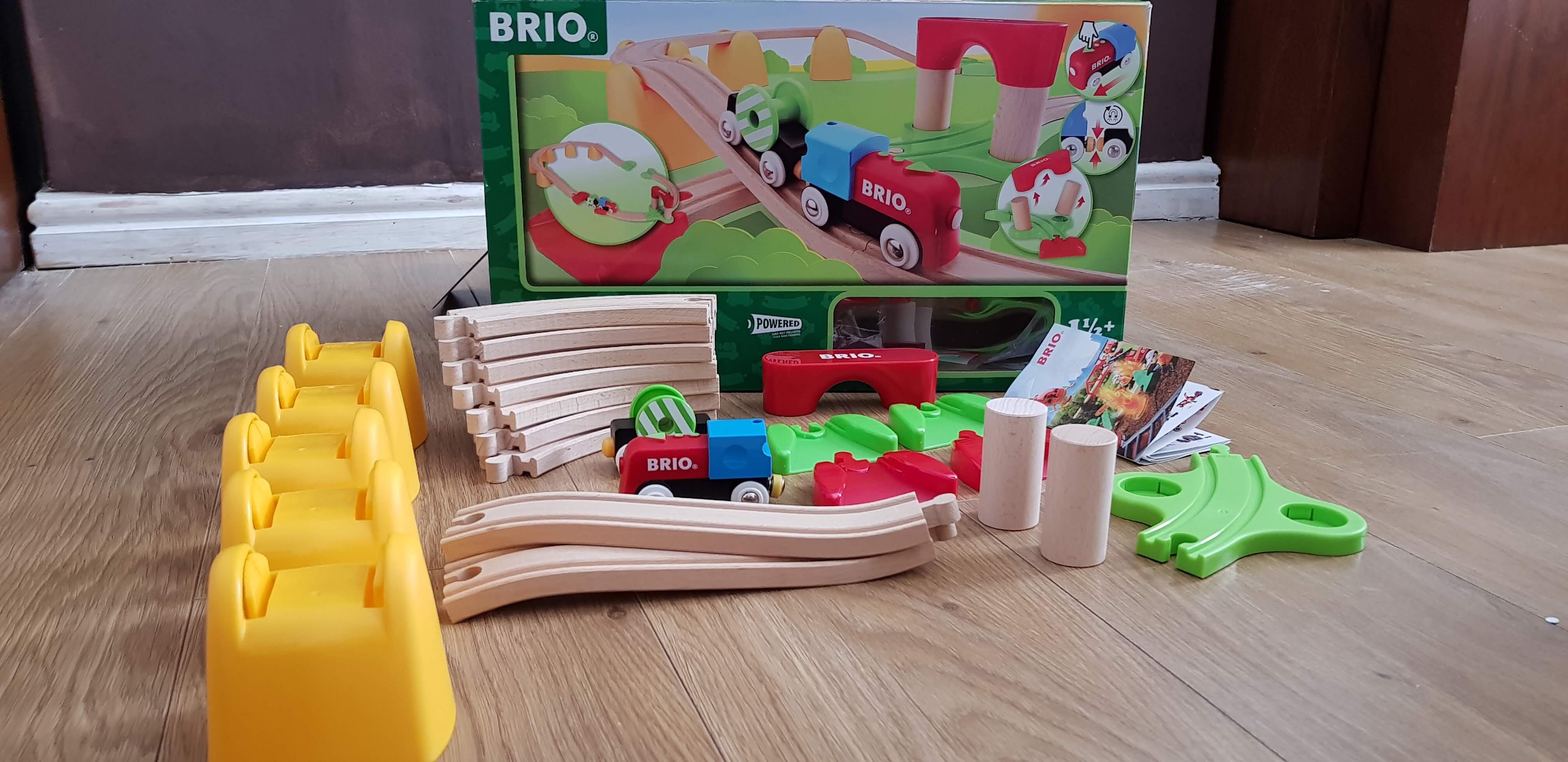 Brio my first railway battery operated train set raw childhood