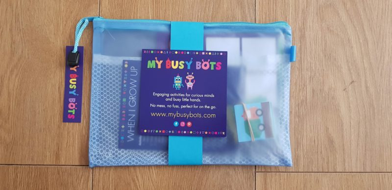 a little bit Dotty busy bag busy bot bag 3 year old gift 2018 raw childhood