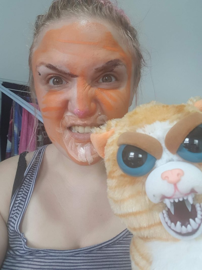 Feisty pets Halloween face paint raw childhood