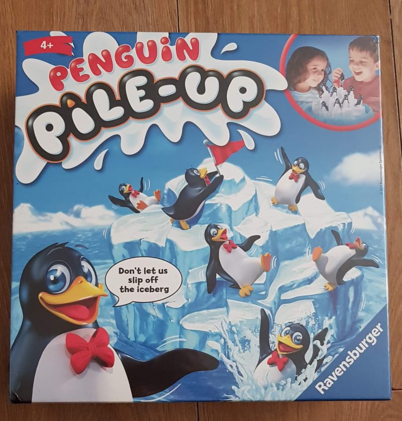 Penguin pile up review Ravensburger raw childhood
