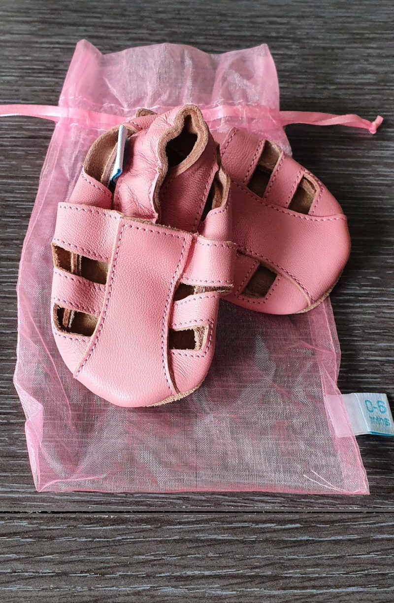 Mum and baby girl must haves raw childhood Baby sandals Dotty fish