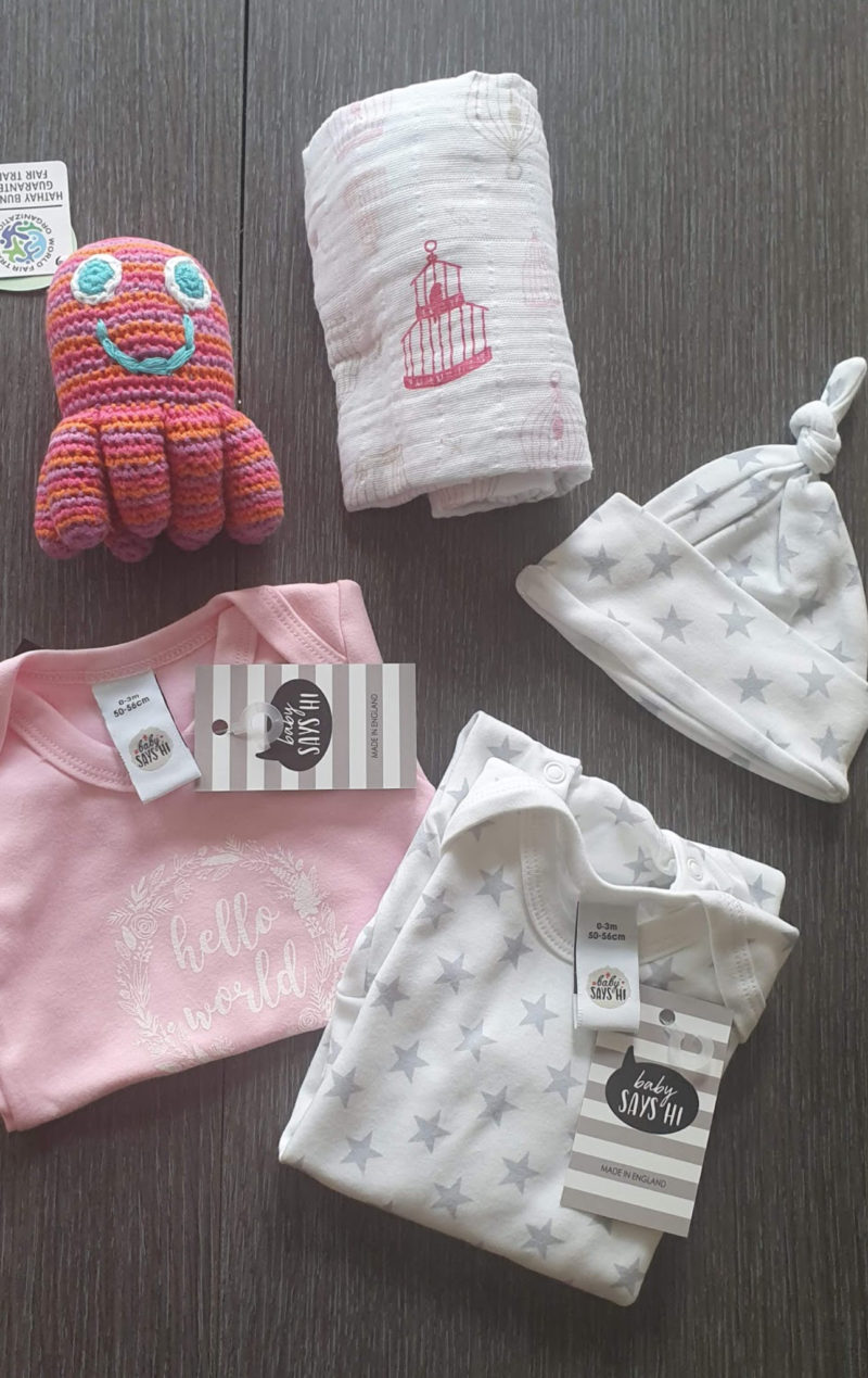 Mum and baby girl must haves raw childhood baby hamper company